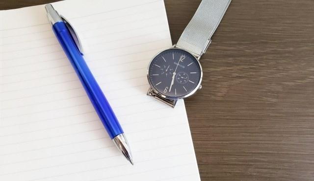 時計と筆記用具