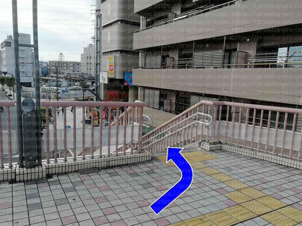 デッキ奥の階段画像