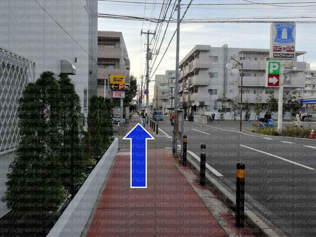 パーキング前道路直進画像