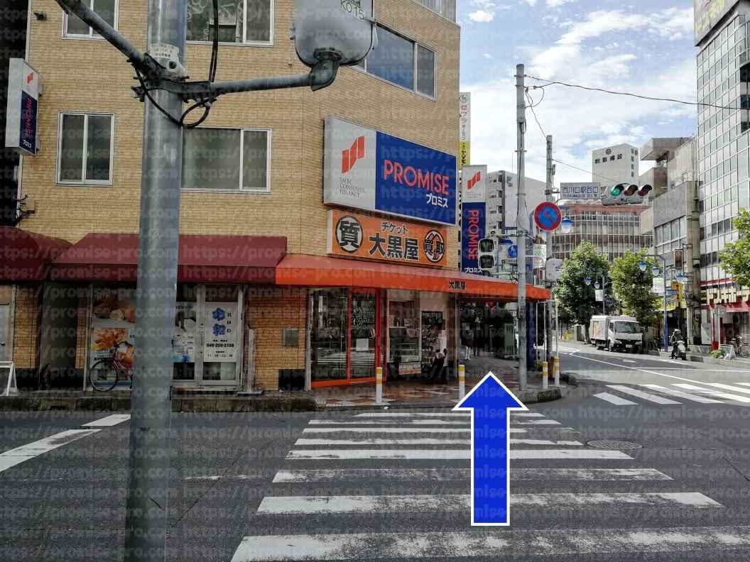 プロミス前横断歩道画像