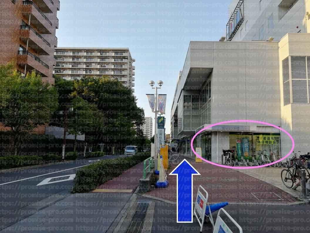 三井住友銀行看板と建物画像