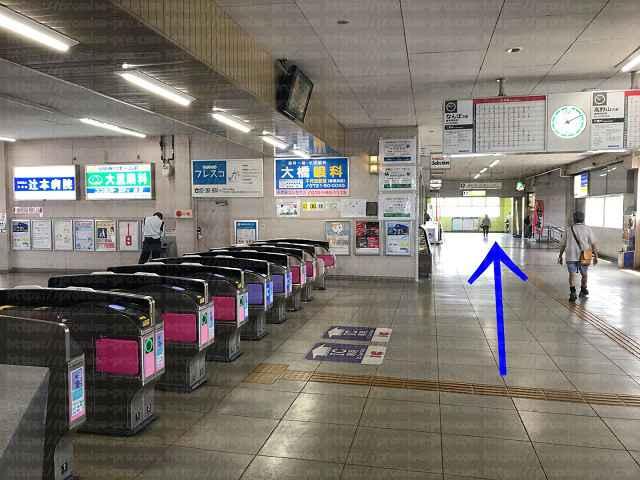 南海電車高野線金剛駅改札口の画像