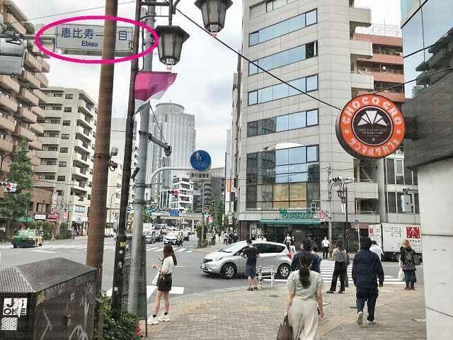 恵比寿一丁目交差点の画像