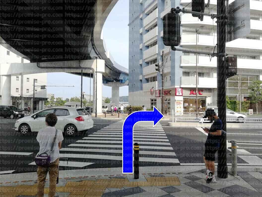 横断歩道(近)画像